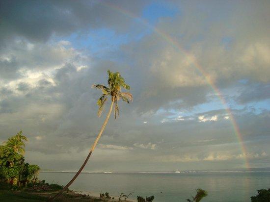 Namuka Bay Lagoon Resort: Uitzicht vanuit de kamer