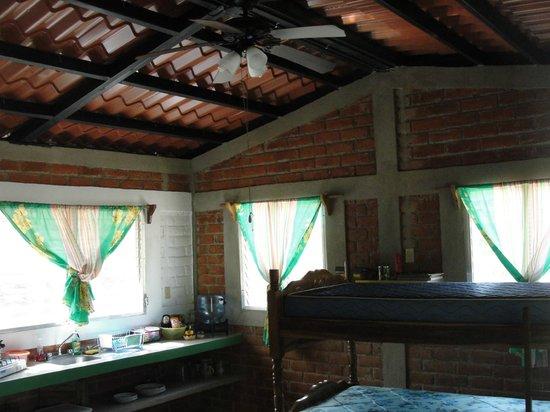 Rancho Cecilia Nicaragua: Jungle cabana interior