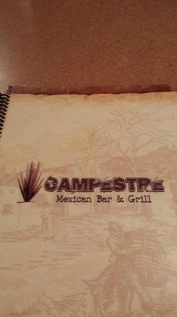 Campestre Mexican Grill : Menu