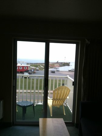 Village Inn of Saint Ignace : Pic of balcony