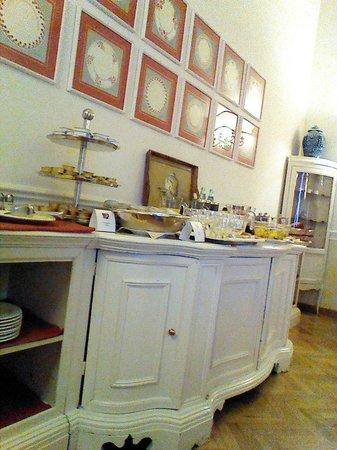 Palazzo Ruspoli: Breakfast room