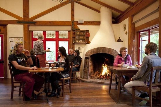 Jester House cafe : The fire is always going in the winter months.