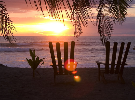 Beach Chairs Sunset Picture of Ranchos Itauna Santa Teresa