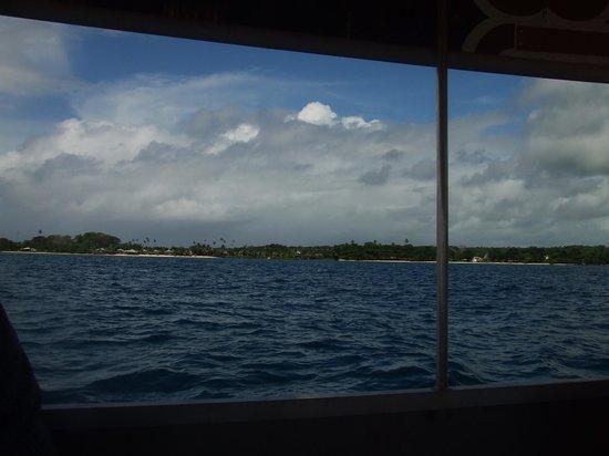 Savaii Lagoon Resort: On the glass bottom boat