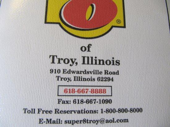 Super 8 Troy IL/St. Louis Area: Motel info