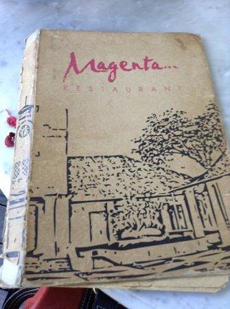 Magenta Restaurant: menu