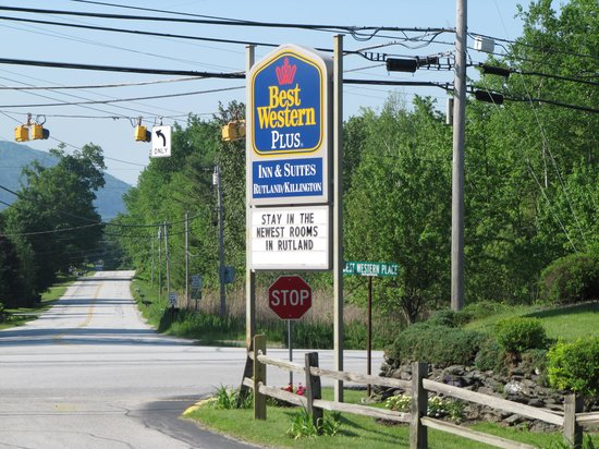 Best Western Inn & Suites Rutland-Killington: main entrance sign