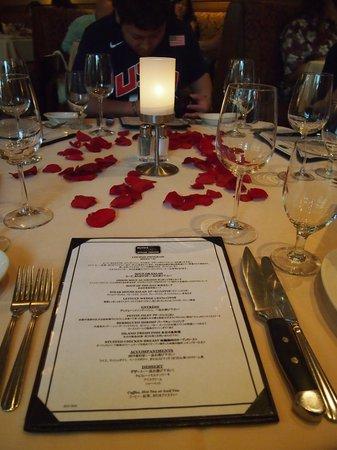 Ruth's Chris Steak House : JALパック通じてのコースメニュー。