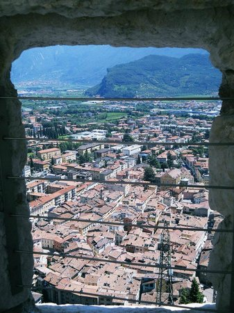 Santa Barbara Church: View over the city,from inside Il Bastione