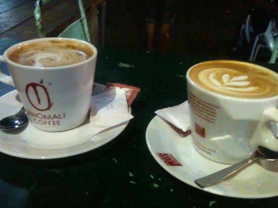 Anomali Coffee Ubud: Two soy lattes
