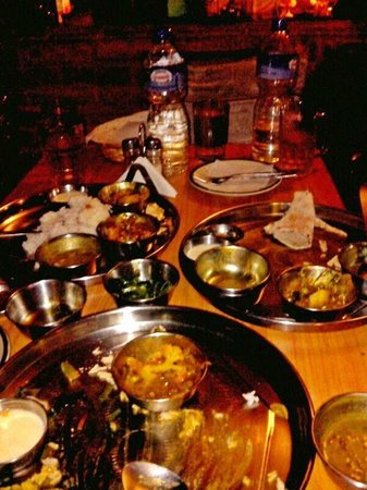Pilgrims Guest House: traditional nepali thali-everyone shud try it once