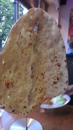 Saffron: Hugefamily naan bread