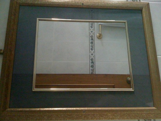 Tower House Suites: bath mirror