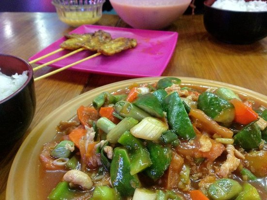 Chopsticks: Stir-fried Sweet & Sour and Chicken Satay!