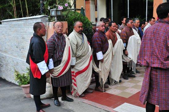 Mongar, Bhutan: welcome delegation