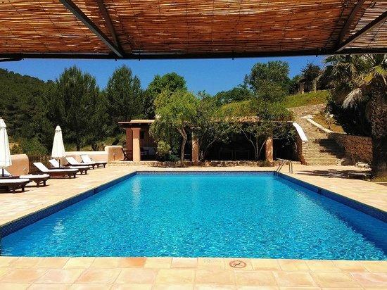 Hotel Rural Can Pujolet: Pool & Breakfast Area