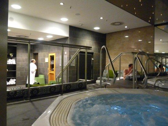 Adina Apartment Hotel Berlin Hackescher Markt: Whirlpool direkt vor der Sauna