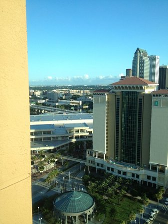Tampa Marriott Waterside Hotel & Marina: View from the 26th floor.