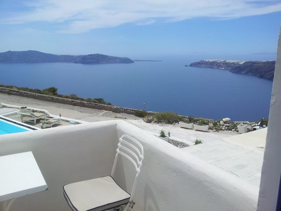 Santorini's Balcony: View from our private balcony
