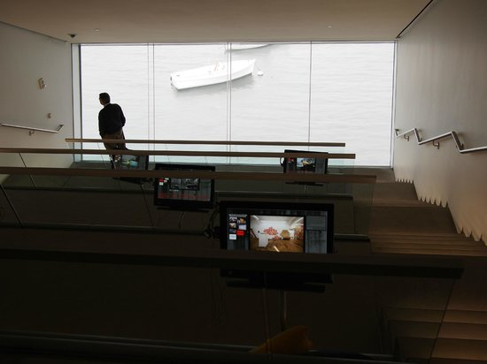 The Institute of Contemporary Art : View from the multimedia room straight onto the water