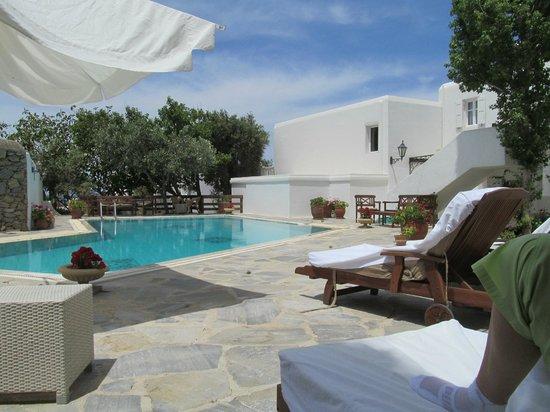 Despotiko Hotel Mykonos: Pool area
