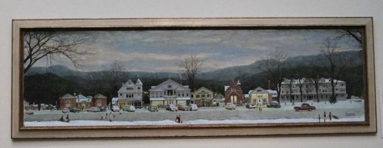 Norman Rockwell Museum : The Christmas painting of Stockbridge