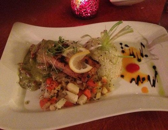 Salmon at Square Root in Hendersonville NC