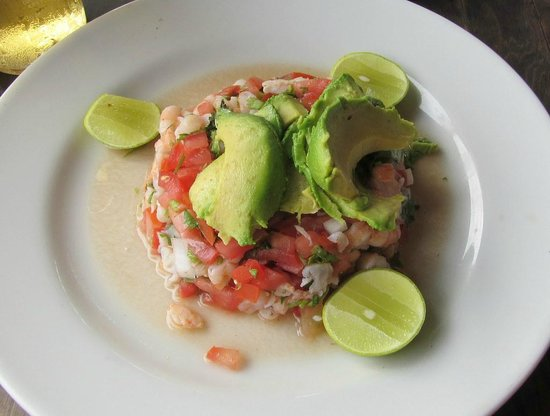 La Casa de los Omelets: Shrimp Ceviche