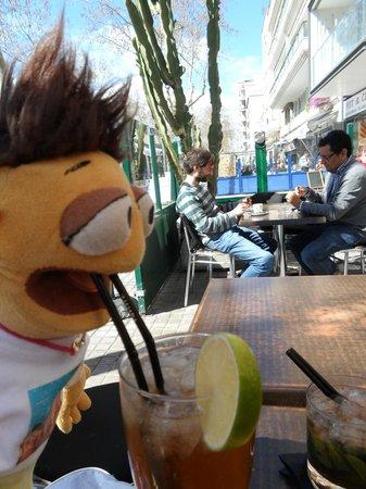 Walter tasting the Long Island Ice Tea @ Zahara