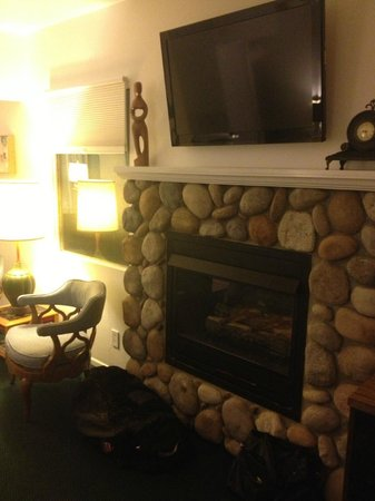The Motor Lodge: Our cozy front room!