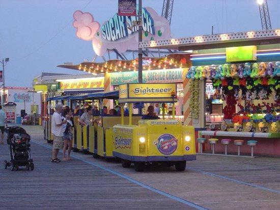 Wildwood Boardwalk Watch The Tram Car Please