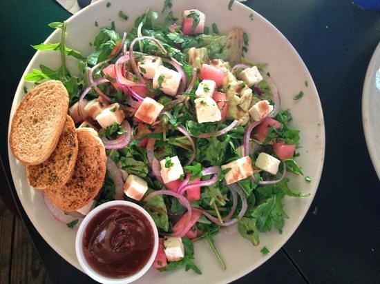 The Whip Waterfront Pub N Grub: watermelon and feta salad with arugula