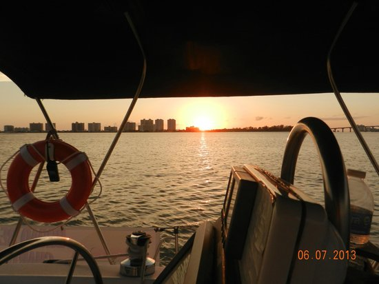 """Broad Reach Charters: Sunset from the """"Nowhere to Be"""""""