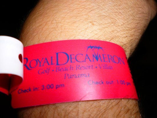 Royal Decameron Golf, Beach Resort & Villas: pulsera para que comprueben lo que digo