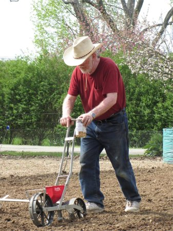 River Gardens Bed and Breakfast, LLC: Here is Gerry working in the early garden.
