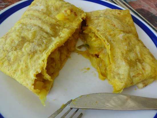 Vegetable roti picture of roti hut george hill for Anguille cuisine