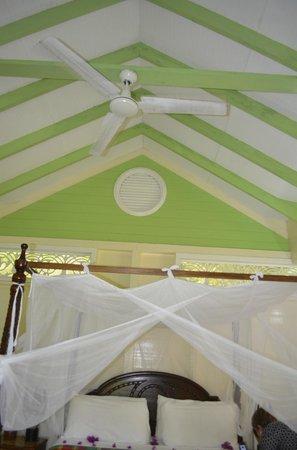 Fond Doux Plantation & Resort: ceiling in cottage