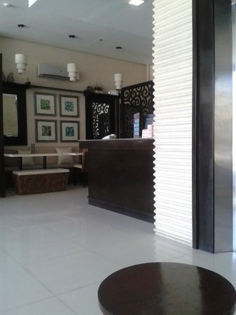 Hotel Stella: Lobby / cafe - left side