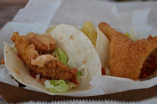 Gator Joe's: Fish Taco. with chips.