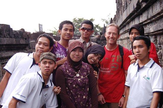 Candi Borobudur: fotos con los javaneses en borobudur