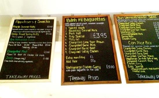 Banh Mi Bay : takeaway menu
