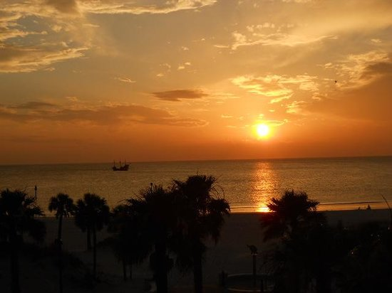 Seaside Inn & Suites Clearwater Beach : sunset from balcony