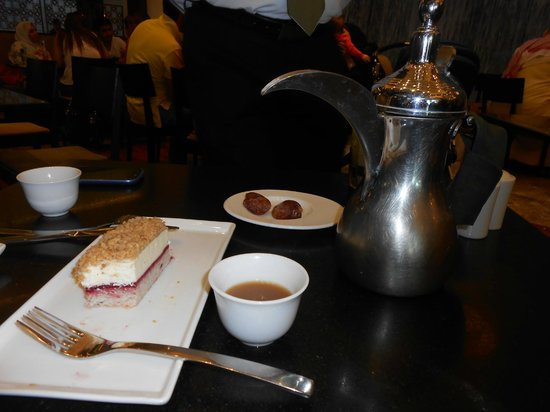 Arabic Coffee and Cheese Cake - Picture of Cafe Bateel