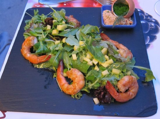 Mono Restaurant : Starter with shrimps and mango