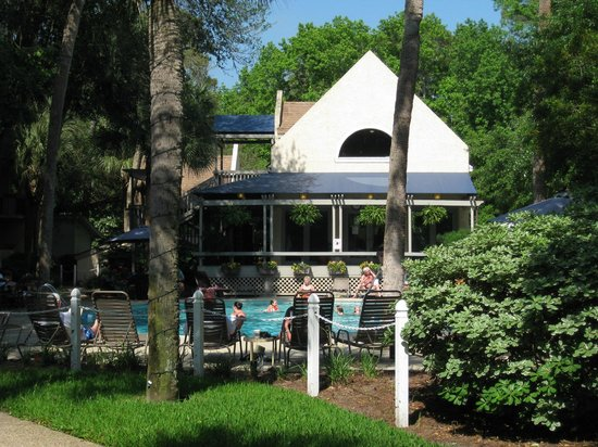 Sea Crest Surf & Racquet Club: Heated Pool -Welcome Center