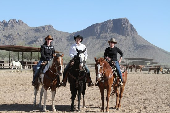 Us at White Stallion Ranch
