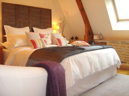 La Longere, Luxury b&b : Bedroom arranged as a double
