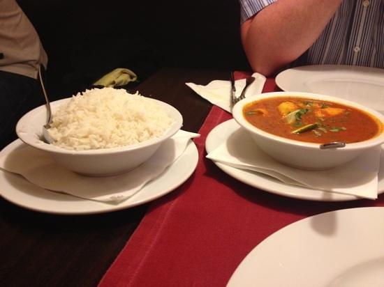 Himal Nepal Kitchen: basmati rice and fish masala