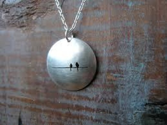 Made : Sterling Bird on a Wire Necklace