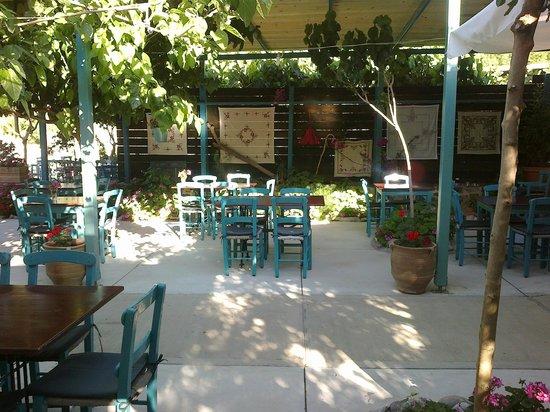 Damnoni, Griekenland: Mesogeios restaurant.